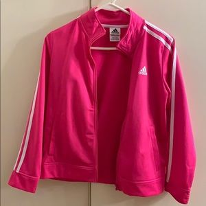 NEW Adidas pink zip up sweater